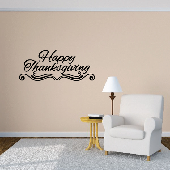 Elegant Happy Thanksgiving Decal