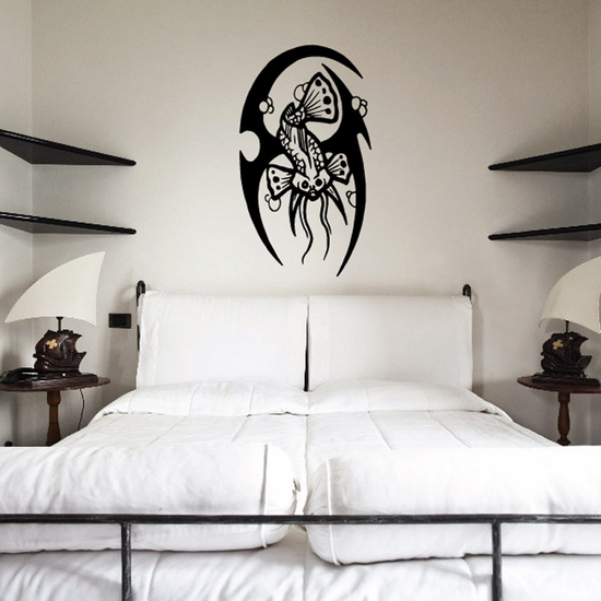 Tribal Fish Wall Decal - Vinyl Decal - Car Decal - DC628