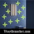 Glow in the Dark Stars Wall Decal - Vinyl Decal - Die Cut Decal - GDK39