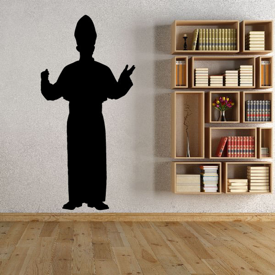 Pope Silhouette Decal