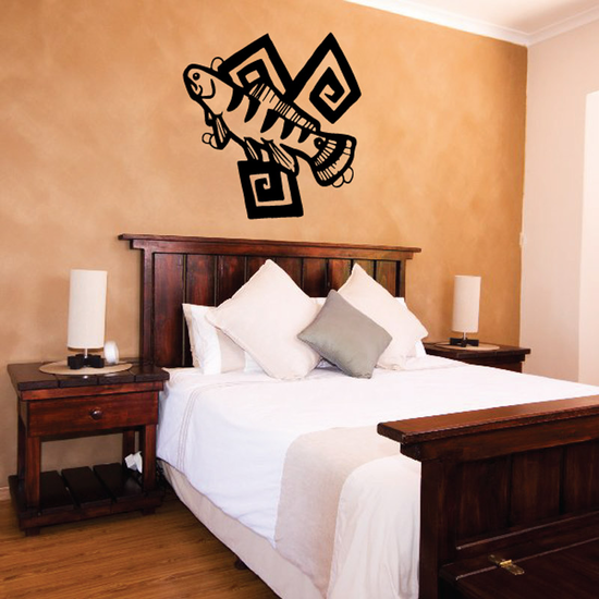 Tribal Fish Wall Decal - Vinyl Decal - Car Decal - DC630