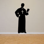 Priest Holding Bible Decal