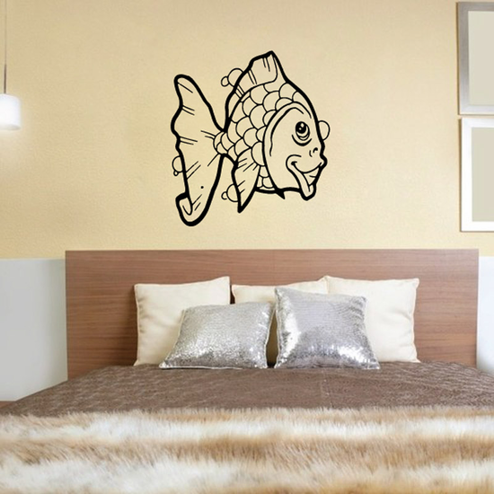 Friendly Goldfish Smiling Decal