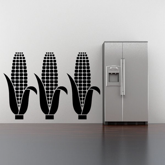 Thanksgiving Three Corn on the cob Decal