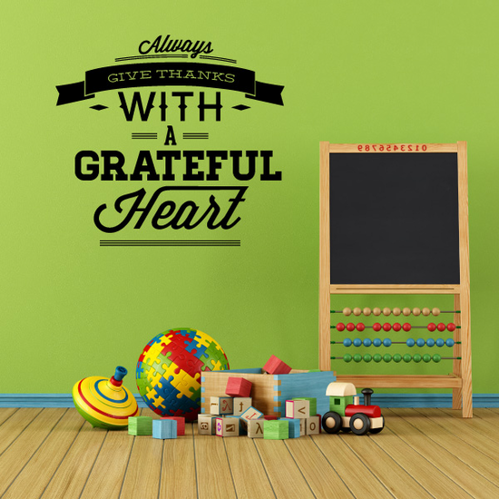 Always Give Thanks With a Grateful Decal
