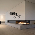 Happy Thanksgiving Thick Thin Lettering Decal