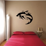Turning Hourglass Dolphin Decal