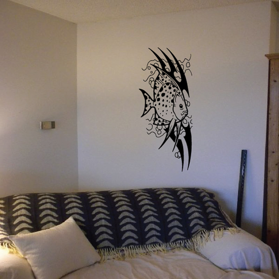 Tribal Fish Wall Decal - Vinyl Decal - Car Decal - DC650