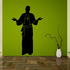 Catholic Priest with hands open Decal