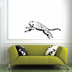 Cheetah Leaping Decal
