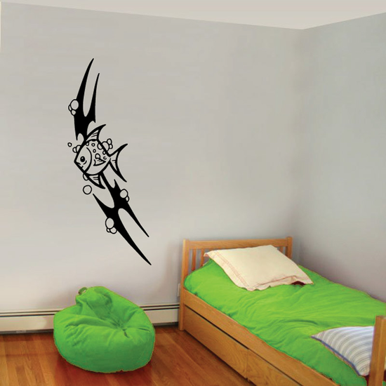 Tribal Fish Wall Decal - Vinyl Decal - Car Decal - DC651