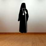 Priest with Stick Decal