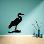 Standing Egret on Grass Decal