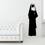 Nun with Cross Decal