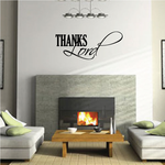 Thanks Lord Thanksgiving Quote Wall Decal - Vinyl Decal - Car Decal - Vd013