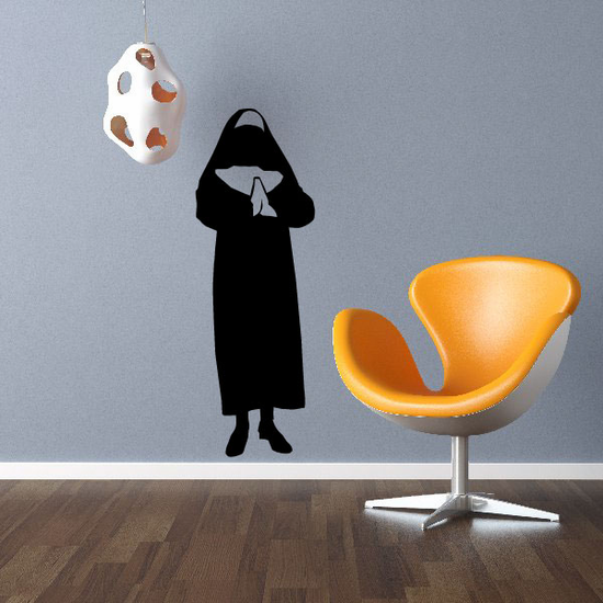 Sister Nun Praying Decal