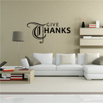 Traditional Give Thanks Thanksgiving Decal