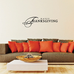 Happy Thanksgiving Fancy Lettering Decal
