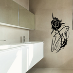 Rose and Dolphin Decal