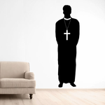 Priest with Cross Decal