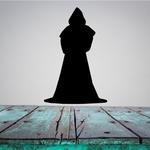 Cloaked Priest Silhouette Decal
