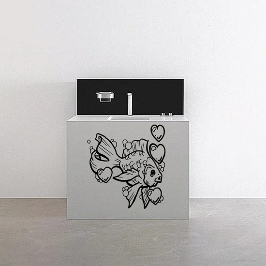 Goldfish in Love Decal