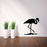 Tucked Head Flamingo Decal