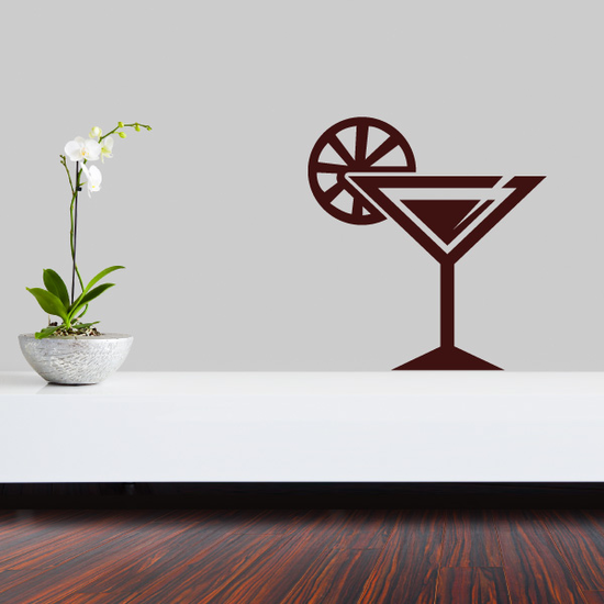 Martini with Lime Decal