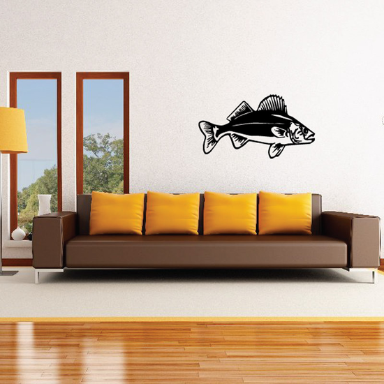 Striding Yellow Perch Decal