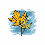 Thanksgiving Fall Maple Leaves Sticker