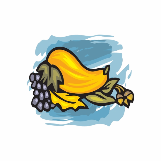 Thanksgiving Squash and Grapes Sticker