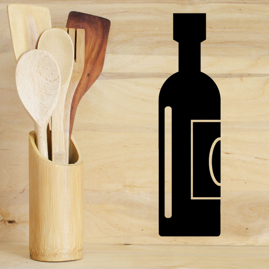 Thanksgiving Wine Bottle Decal