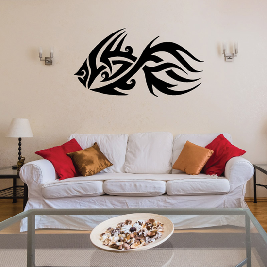 Tribal Fish Wall Decal - Vinyl Decal - Car Decal - DC725