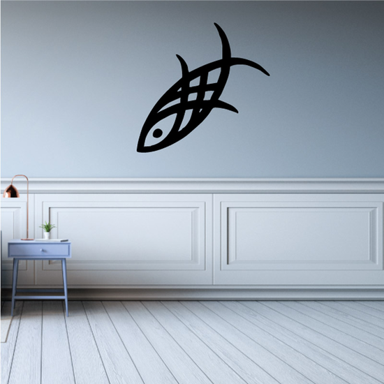 Tribal Fish Wall Decal - Vinyl Decal - Car Decal - DC730