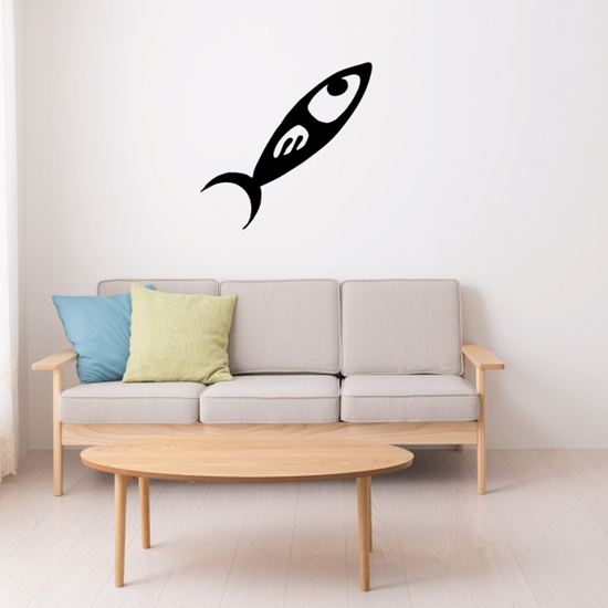 Tribal Fish Wall Decal - Vinyl Decal - Car Decal - DC732