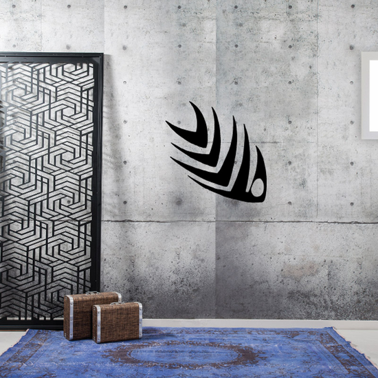 Tribal Fish Wall Decal - Vinyl Decal - Car Decal - DC752