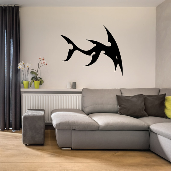 Tribal Fish Wall Decal - Vinyl Decal - Car Decal - DC756