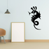 Abstract Spinal Body Seahorse Decal