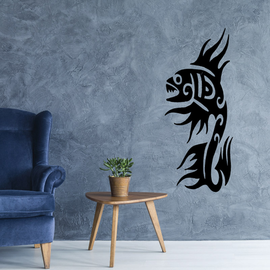 Tribal Fish Wall Decal - Vinyl Decal - Car Decal - DC767