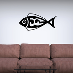 Tribal Fish Wall Decal - Vinyl Decal - Car Decal - DC771