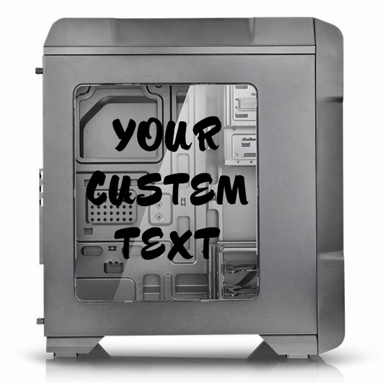 Custom Computer Lettering Decal