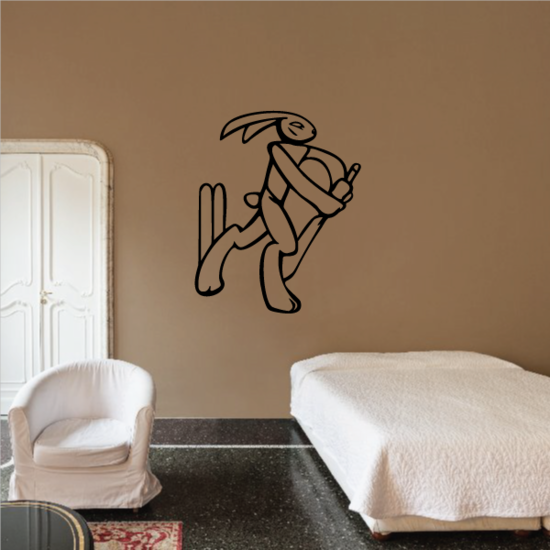 Bunny Cricket Player Decal
