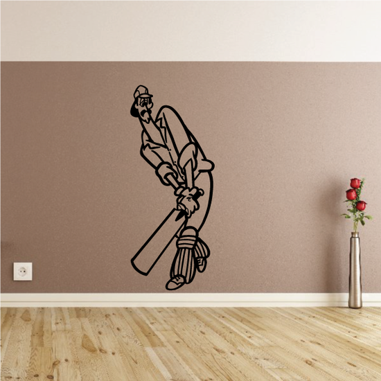 Scared Cricket Batter Decal
