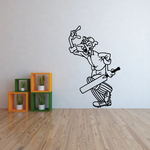Angry Cricket Batter Decal