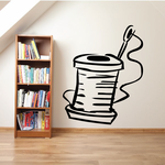 Sewing Needle and Thread Wall Decal