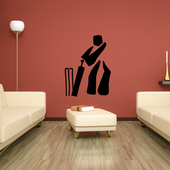 Cricket Batter Silhouette Decal