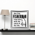 One fine fisherman lives here with the catch of his life Decal