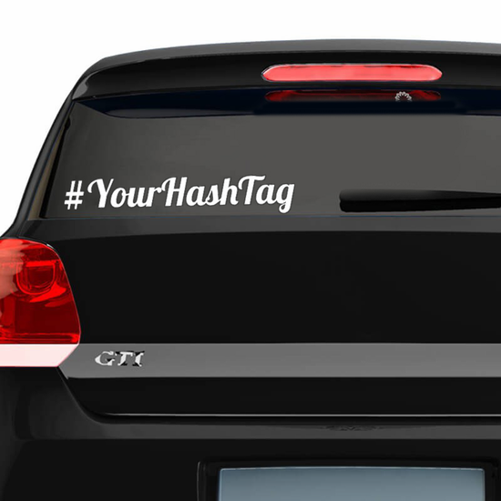 Custom Hashtag Decal with Basic Fonts