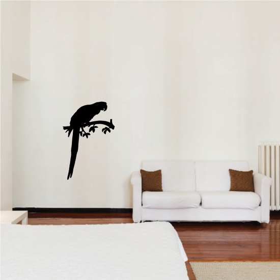 Parrot Couple on Branch Decal