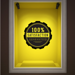 100% Satisfaction Guaranteed Qualitybusinesssign Wall Decal - Vinyl Decal - Car Decal - Id022